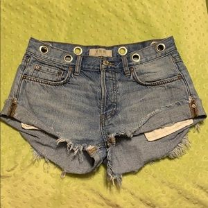 Free People Denim Shortd